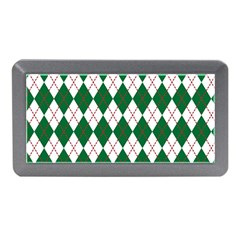 Plaid Triangle Line Wave Chevron Green Red White Beauty Argyle Memory Card Reader (mini) by Alisyart