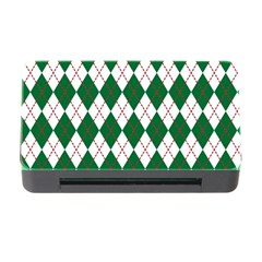 Plaid Triangle Line Wave Chevron Green Red White Beauty Argyle Memory Card Reader With Cf by Alisyart