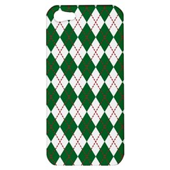 Plaid Triangle Line Wave Chevron Green Red White Beauty Argyle Apple Iphone 5 Hardshell Case by Alisyart