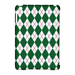 Plaid Triangle Line Wave Chevron Green Red White Beauty Argyle Apple Ipad Mini Hardshell Case (compatible With Smart Cover) by Alisyart