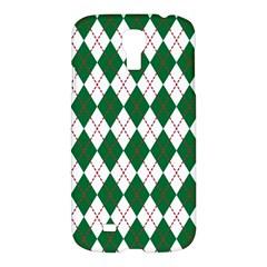 Plaid Triangle Line Wave Chevron Green Red White Beauty Argyle Samsung Galaxy S4 I9500/i9505 Hardshell Case by Alisyart
