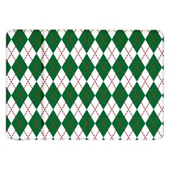 Plaid Triangle Line Wave Chevron Green Red White Beauty Argyle Samsung Galaxy Tab 8 9  P7300 Flip Case by Alisyart