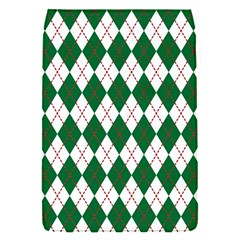 Plaid Triangle Line Wave Chevron Green Red White Beauty Argyle Flap Covers (s)  by Alisyart