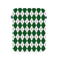 Plaid Triangle Line Wave Chevron Green Red White Beauty Argyle Apple Ipad 2/3/4 Protective Soft Cases by Alisyart