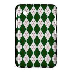 Plaid Triangle Line Wave Chevron Green Red White Beauty Argyle Samsung Galaxy Tab 2 (7 ) P3100 Hardshell Case  by Alisyart