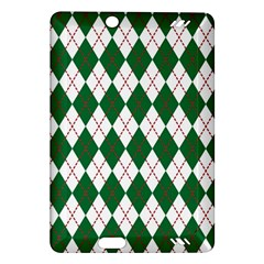 Plaid Triangle Line Wave Chevron Green Red White Beauty Argyle Amazon Kindle Fire Hd (2013) Hardshell Case by Alisyart