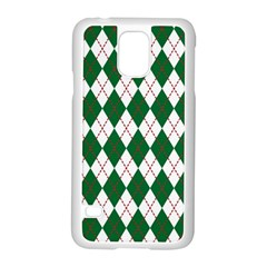 Plaid Triangle Line Wave Chevron Green Red White Beauty Argyle Samsung Galaxy S5 Case (white) by Alisyart