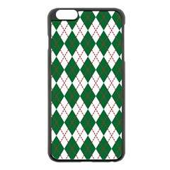 Plaid Triangle Line Wave Chevron Green Red White Beauty Argyle Apple Iphone 6 Plus/6s Plus Black Enamel Case by Alisyart