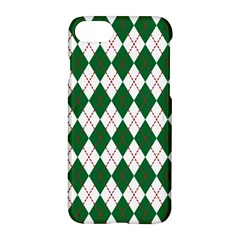 Plaid Triangle Line Wave Chevron Green Red White Beauty Argyle Apple Iphone 7 Hardshell Case by Alisyart