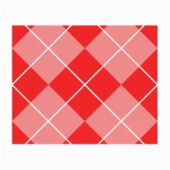 Plaid Triangle Line Wave Chevron Red White Beauty Argyle Small Glasses Cloth (2 Side) by Alisyart