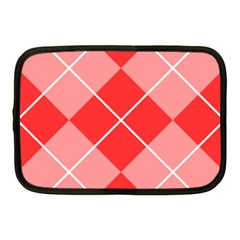 Plaid Triangle Line Wave Chevron Red White Beauty Argyle Netbook Case (medium)  by Alisyart