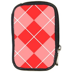 Plaid Triangle Line Wave Chevron Red White Beauty Argyle Compact Camera Cases by Alisyart