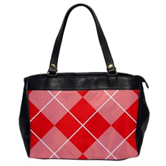 Plaid Triangle Line Wave Chevron Red White Beauty Argyle Office Handbags by Alisyart