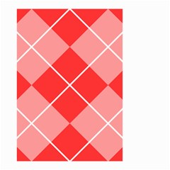 Plaid Triangle Line Wave Chevron Red White Beauty Argyle Small Garden Flag (two Sides) by Alisyart