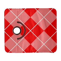 Plaid Triangle Line Wave Chevron Red White Beauty Argyle Galaxy S3 (flip/folio) by Alisyart