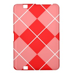 Plaid Triangle Line Wave Chevron Red White Beauty Argyle Kindle Fire Hd 8 9  by Alisyart