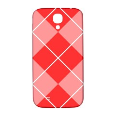 Plaid Triangle Line Wave Chevron Red White Beauty Argyle Samsung Galaxy S4 I9500/i9505  Hardshell Back Case by Alisyart