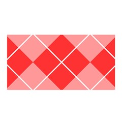 Plaid Triangle Line Wave Chevron Red White Beauty Argyle Satin Wrap by Alisyart