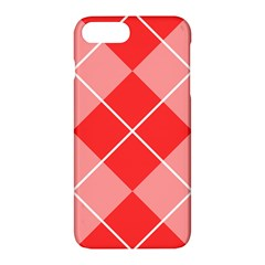 Plaid Triangle Line Wave Chevron Red White Beauty Argyle Apple Iphone 7 Plus Hardshell Case by Alisyart
