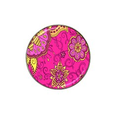 Pink Lemonade Flower Floral Rose Sunflower Leaf Star Pink Hat Clip Ball Marker (4 Pack) by Alisyart