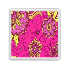 Pink Lemonade Flower Floral Rose Sunflower Leaf Star Pink Memory Card Reader (square)  by Alisyart