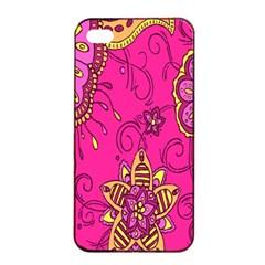 Pink Lemonade Flower Floral Rose Sunflower Leaf Star Pink Apple Iphone 4/4s Seamless Case (black) by Alisyart
