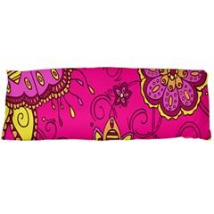 Pink Lemonade Flower Floral Rose Sunflower Leaf Star Pink Body Pillow Case Dakimakura (two Sides) by Alisyart