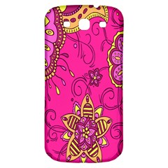Pink Lemonade Flower Floral Rose Sunflower Leaf Star Pink Samsung Galaxy S3 S Iii Classic Hardshell Back Case by Alisyart