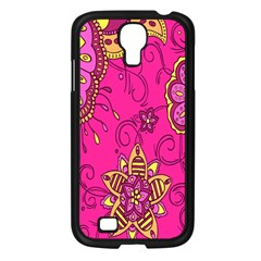 Pink Lemonade Flower Floral Rose Sunflower Leaf Star Pink Samsung Galaxy S4 I9500/ I9505 Case (black) by Alisyart