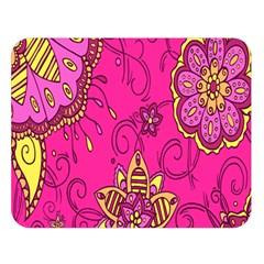 Pink Lemonade Flower Floral Rose Sunflower Leaf Star Pink Double Sided Flano Blanket (large)  by Alisyart