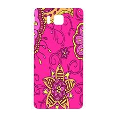 Pink Lemonade Flower Floral Rose Sunflower Leaf Star Pink Samsung Galaxy Alpha Hardshell Back Case by Alisyart