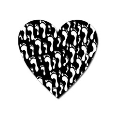 Population Soles Feet Foot Black White Heart Magnet by Alisyart