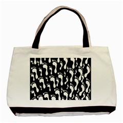Population Soles Feet Foot Black White Basic Tote Bag by Alisyart