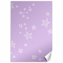Star Lavender Purple Space Canvas 12  X 18   by Alisyart