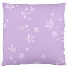 Star Lavender Purple Space Large Cushion Case (two Sides) by Alisyart