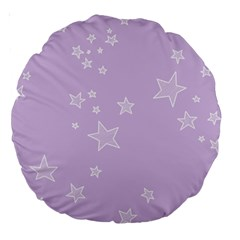 Star Lavender Purple Space Large 18  Premium Round Cushions by Alisyart