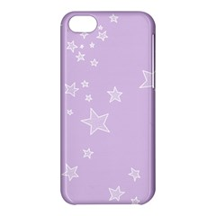 Star Lavender Purple Space Apple Iphone 5c Hardshell Case by Alisyart