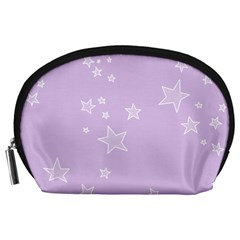 Star Lavender Purple Space Accessory Pouches (large)  by Alisyart