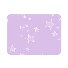 Star Lavender Purple Space Double Sided Flano Blanket (mini)  by Alisyart