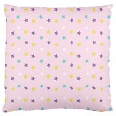 Star Rainbow Coror Purple Gold White Blue Standard Flano Cushion Case (one Side) by Alisyart