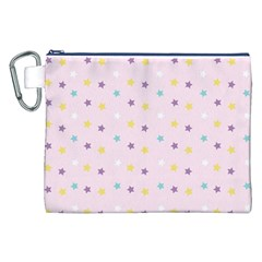Star Rainbow Coror Purple Gold White Blue Canvas Cosmetic Bag (xxl) by Alisyart