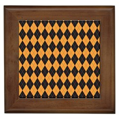 Plaid Triangle Line Wave Chevron Yellow Red Blue Orange Black Beauty Argyle Framed Tiles by Alisyart