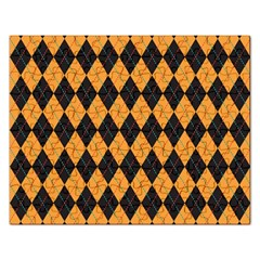 Plaid Triangle Line Wave Chevron Yellow Red Blue Orange Black Beauty Argyle Rectangular Jigsaw Puzzl by Alisyart