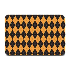 Plaid Triangle Line Wave Chevron Yellow Red Blue Orange Black Beauty Argyle Plate Mats by Alisyart