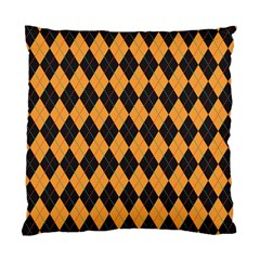 Plaid Triangle Line Wave Chevron Yellow Red Blue Orange Black Beauty Argyle Standard Cushion Case (two Sides) by Alisyart