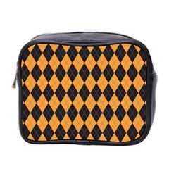 Plaid Triangle Line Wave Chevron Yellow Red Blue Orange Black Beauty Argyle Mini Toiletries Bag 2 Side by Alisyart