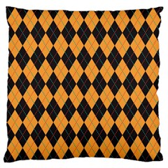 Plaid Triangle Line Wave Chevron Yellow Red Blue Orange Black Beauty Argyle Large Cushion Case (two Sides) by Alisyart