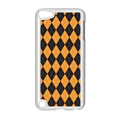 Plaid Triangle Line Wave Chevron Yellow Red Blue Orange Black Beauty Argyle Apple Ipod Touch 5 Case (white) by Alisyart