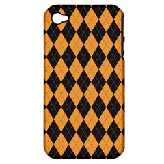Plaid Triangle Line Wave Chevron Yellow Red Blue Orange Black Beauty Argyle Apple Iphone 4/4s Hardshell Case (pc+silicone) by Alisyart