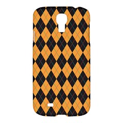 Plaid Triangle Line Wave Chevron Yellow Red Blue Orange Black Beauty Argyle Samsung Galaxy S4 I9500/i9505 Hardshell Case by Alisyart